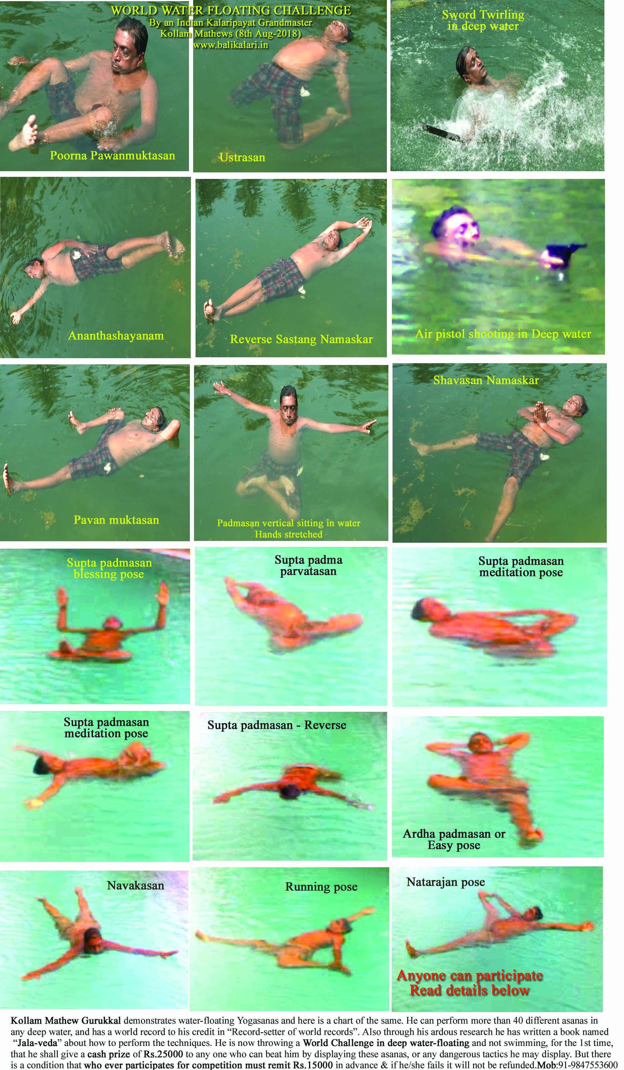 Water floating chart